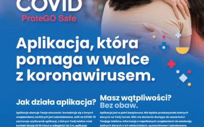 Powiatowa Stacja Sanitarno- Epidemiologiczna wOpolu Lubelskim przekazuje materiały dotyczące aplikacji STOP COVID